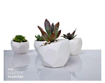 Geometric Planter, Succulent & cacti vase, Modern Plant Pot, Minimalist Planter, Indoor Plant Pot,  Cactus Planter Gifts, Happy Planters