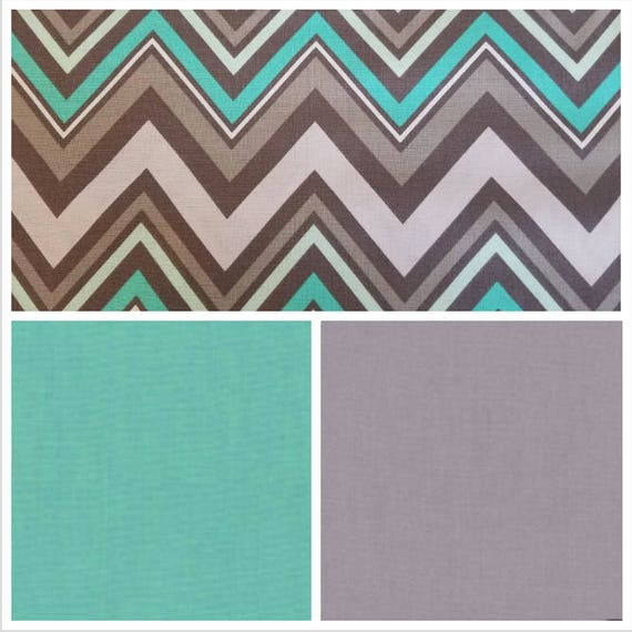 Teal Gray Chevron Weighted Blanket, Cotton, Up to Twin Size, 3 to 20 Pounds, Adult Weighted Blanket, SPD, Autism, Calming Blanket