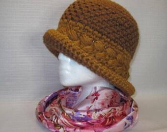 Vintage Hat, Twenties Style,Flapper Hat, Cloche Hat, 1920s, Vintage Flapper Hat, Vintage Cloche Hat, Downton Abbey, 1920s Flapper Hat, Brown