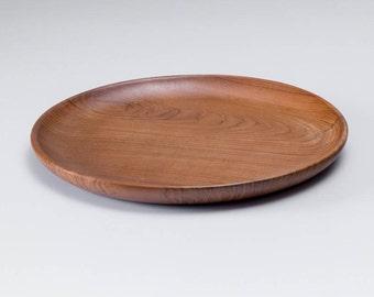 Teak Round Plate