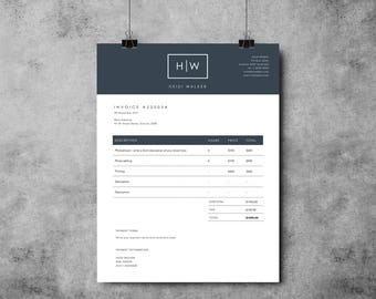 Photographer Invoice Template | Invoice Design | Receipt Template | MS Word  U0026 Photoshop  How To Design A Receipt