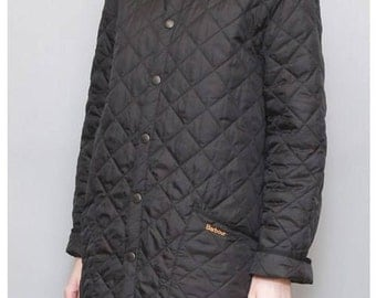 Vintage 1990's Quilted Black Barbour Jacket