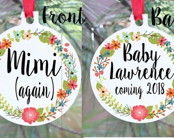 Expecting Ornament, We're Expecting Christmas Ornament, Expecting Baby Ornament, Pregnant Ornament, Pregnancy Ornament, Mimi Ornaments