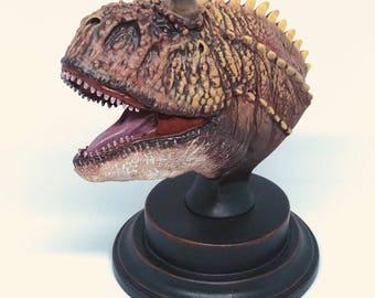 1/10 Carnotaurus Bust. For Jurassic Park & Dinosaur Fans!