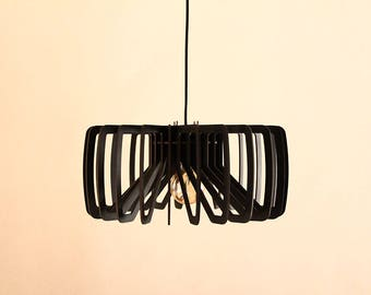 wood pendant light modern chandelier lighting mid century industrial hanging dining lamp