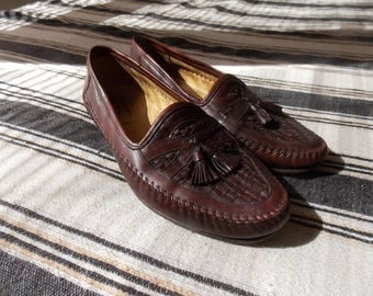 Santoni Leather Loafers, Size 11