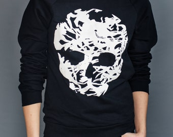 Skull Printed Pullover Sweater