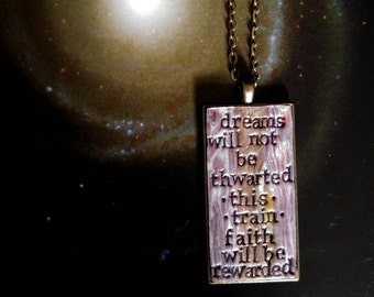 Bruce Springsteen Land of Hope and Dreams Pendant Necklace