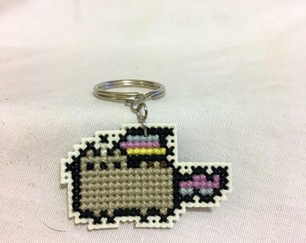 Unicorn Pusheen, Keychain, Cross Stitch, Pusheen the Cat