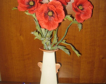 Field poppies, 1 piece, Bouquet of field poppies, handmade, cold porcelain, polymer clay, silk flowers, interior composition
