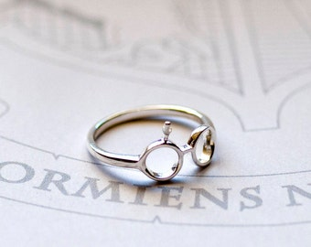 Harry Potter Ring, Silver Harry Potter Ring, Harry Potter Thumb Ring