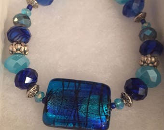 Brilliant Blue Bracelet