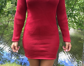 90s turtle neck Ralph Lauren sweater dress
