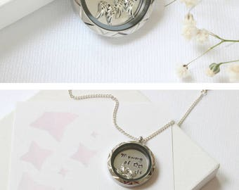 Infant Loss Keepsake, Twin Pregnancy Loss Gift, Twin Miscarriage Necklace, Infant Loss Jewelry, Miscarriage Jewelry, Loss of Baby Gift,