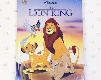 Vintage Lion King Hardcover Story Book | 1994 Lion King Book | Disney Lion King Book 90s | Lion King Movie Memorabilia | The Lion King Movie