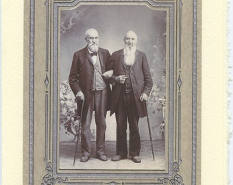 Together: vintage lgbtq+ card - gay wedding card, elder gay card, gay anniversary, second marriage, growing old together, better together