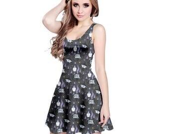 Chandelure Dress - Skater Dress Litwick Dress Lampent Dress Pokemon Dress Ghost Pokemon Evolutions Dress Plus Size Dress Cosplay