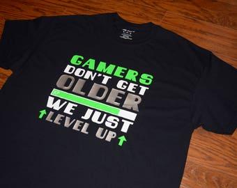 I Don't Get Older Shirt, Gaming Shirt, XBOX Shirt, Video Game Shirt, Gamer Birthday Shirt, Level Up Shirt, Gamer XP Shirt, Funny Gamer Shirt