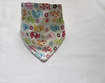 Elephant Baby Gift - Elephant Bib - Bandana Bib - Bandana Bib Girl - Bandana Bibs for Girls - Drool bib - Drool Bandana - Baby Shower Gift