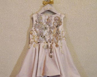 Baby GirlCouture/Beautiful Bow Dress/Posh Lace Baby Girl Baptism Dress or Flower Girl Dress/Christening Dress/Flower Girl/Baptism Dress/