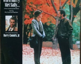 Free shipping! When Harry Met Sally, 1989 Vintage Vinyl Record w/ Harry Connick Jr: It Had to Be You, Autumn in NY, etc. Cute romantic gift!