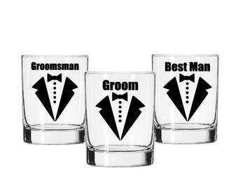 Wedding Party DIY Decals - Bow Tie Groomsman Decals - Beer Mug Groom Decal - Bachelor Party Decal - Best Man Gift - Groomsman Decals - Groom