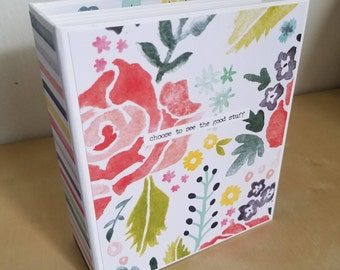 Premade Scrapbook album, instax, love, memory book, gifts for her, ready to ship, flowers, floral, summer, travel, valentine's day