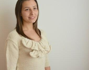 Oversize sweater, knitted sweater, women's sweater, 100% alpaca sweater, winter sweater