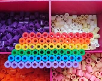Rainbow Hama Bead Magnet