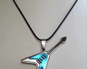 Guitar Pendant Necklace, Free Shipping (E17121)