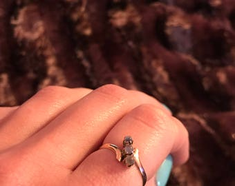 Antique Moonstone Victorian Bypass Ring