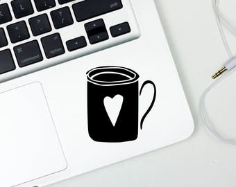 Coffee Cup Decal, Coffee Lovers Gift, Tea lover gift, Gift for Coffee Lover, Tea Cup, Vinyl Decal, Car Window Decal, Laptop Decal, Car Decal