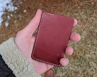 Minimalist Card Wallet, Leather Minimalist Wallet, Leather Card Wallet, Leather Card Sleeve, Mens Leather Wallet, Slim Leather Wallet