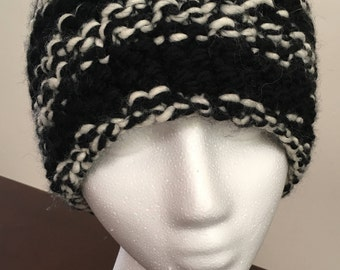 Black and White Zebra Hat