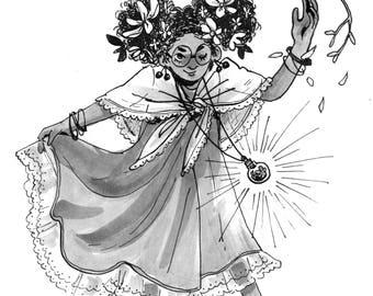 ORIGINAL ARTWORK: ink witches 1-9