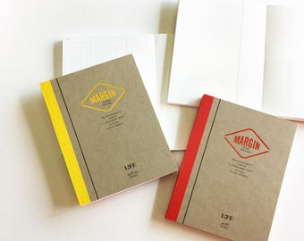 LIFE MARGIN MEMO - B7 size memo pads ( Plain / Grid ) | Japanese stationery