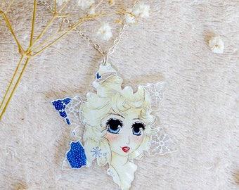 Frozen Inspired Magical Elsa Necklace