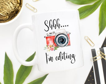 Photographer Mug, Photographer Gift, Wedding Photographer, Camera Coffee Mug, Oh Snap, Camera Mug, Editing Day, Photography Gifts