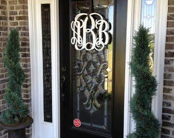 Monogram Door Hanger|Spring Wreath|Front Door Decor|Wooden Monogram|Monogram Wreath|Monogram|Door Monogram|Front Door Monogram Wreath