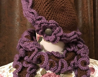 Little Girl Hat and Boa Scarf set