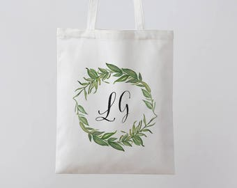 Personalized Tote Bag Floral Tote Bag white Tote Bag Personalised Tote Bag Bridesmaid Tote Bag Canvas Tote Custom Tote bag