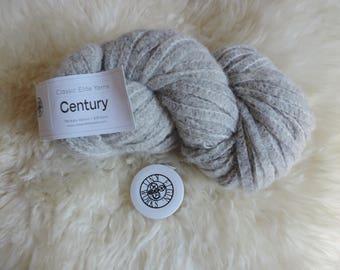 "Classic Elite Century Yarn, ""Ash"" Color #4475, Super Bulky, Railroad Construction, 98 Yards, Made in Peru"