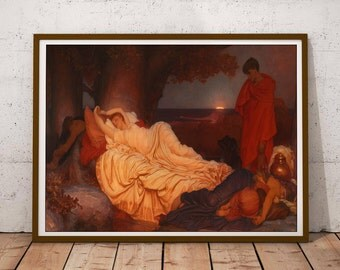 Classical art reproduction print / Classical art print / Painting art / Paint poster / European art print / Painting print /