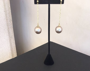 Long Move Pearls  Earrings by Dobka