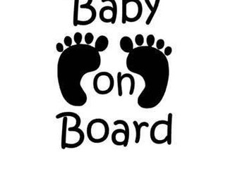 Baby On Board Car Decal-Customize your color!