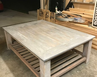 Farmhouse Coffee Table, Rustic Coffee Table, Chic Style Coffee Table, Reclaimed Wood Coffee Table