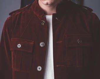 1962 Burgundy Velvet Jacket