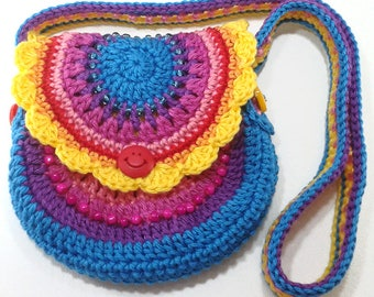 Bibbed cotton clutch bag