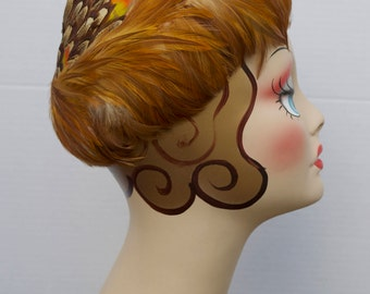 1950's Rooster Feather Cap