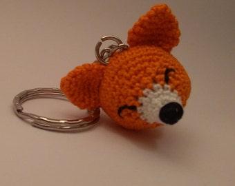 Fox Crochet Key Chain